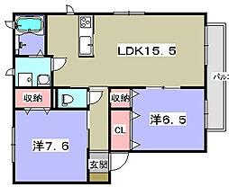 シャーメゾン明徳1番館[2階]の間取り