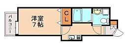 エステートモア大橋クリオ[11階]の間取り