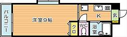 ベルベーヌ八幡[4階]の間取り