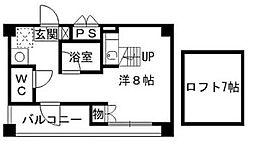 福岡県北九州市八幡西区菅原町の賃貸マンションの間取り