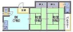 鎌田マンション[1階]の間取り