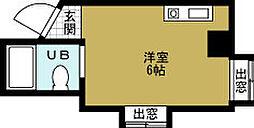 ラパンジール本田2[6階]の間取り