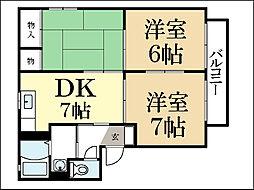 アンリ久津川IV[2階]の間取り