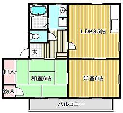 メゾンドプリューム A棟[2階]の間取り