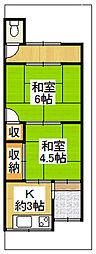 [テラスハウス] 大阪府東大阪市新庄1丁目 の賃貸【/】の間取り