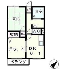 滋賀県高島市今津町浜分の賃貸アパートの間取り