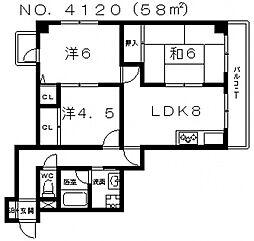 クラールプラッツ[3階]の間取り