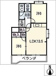 シャンポール西田[2階]の間取り