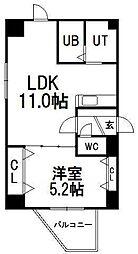 北海道札幌市中央区南四条西11丁目の賃貸マンションの間取り