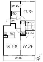 神奈川県横浜市都筑区すみれが丘の賃貸アパートの間取り