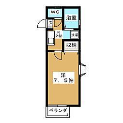 リュミエール岩崎II[2階]の間取り