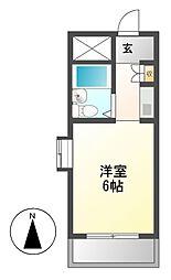 愛知県名古屋市熱田区白鳥3丁目の賃貸マンションの間取り