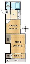 川本アパート[102号室]の間取り