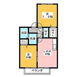 ルポプレジールII[2階]の間取り