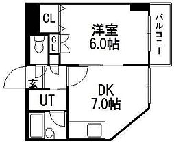 北海道札幌市白石区東札幌三条4丁目の賃貸マンションの間取り