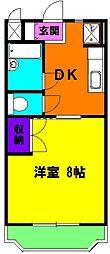 静岡県磐田市西島の賃貸マンションの間取り