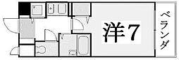 京都府京都市東山区梅本町の賃貸マンションの間取り
