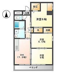 Grand Cha'teau III[1階]の間取り