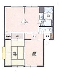サンリヴェールA[2階]の間取り