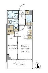 つくばエクスプレス 新御徒町駅 徒歩3分の賃貸マンション 5階1DKの間取り