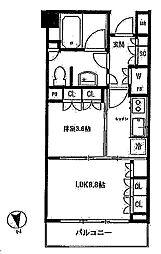 パークホームズ六本木乃木坂アーバンレジデンス[412号室]の間取り