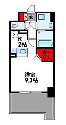 JR篠栗線 柚須駅 徒歩24分の賃貸マンション 1階1Kの間取り