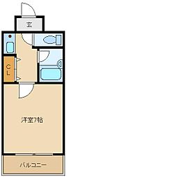 大阪府東大阪市中新開2丁目の賃貸マンションの間取り