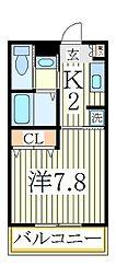 天王台ロイヤルハイツ[3階]の間取り