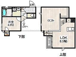 シービー箱崎リヨン[1階]の間取り