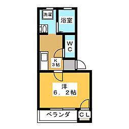 ベルテII[2階]の間取り