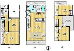 [一戸建] 東京都板橋区志村3丁目 の賃貸【/】の間取り