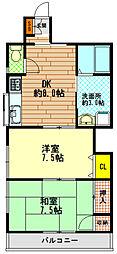 木島ハイツ[2階]の間取り