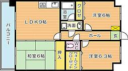 オロマーレ折尾南II[3階]の間取り