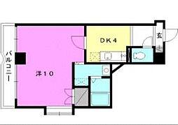 カサグランテ湯之町[3-D 号室号室]の間取り