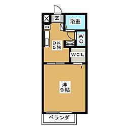 リバーサイドアベニュー[1階]の間取り