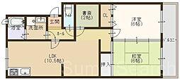 大阪府堺市東区菩提町5丁の賃貸マンションの間取り