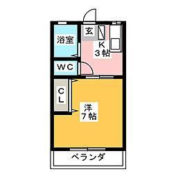 ブルーメSOM[2階]の間取り
