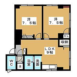 ラピスラズリ名駅[2階]の間取り