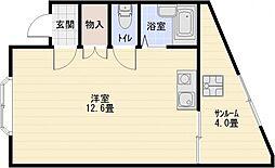 竹弘ビル[3階]の間取り