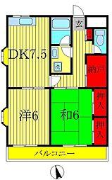 A−ONEビレッジ[1階]の間取り