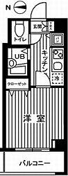 東京都府中市八幡町3丁目の賃貸マンションの間取り