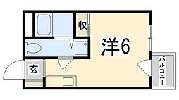 城北興和マンション[502号室]の間取り