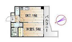 ダイナリィコアビル[5階]の間取り