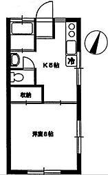 旭丘山七コーポ[1階]の間取り