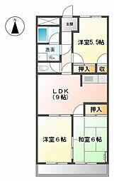 ENJYOII[2階]の間取り