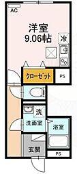Hauoli 1階ワンルームの間取り