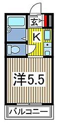 グランディール高橋[2階]の間取り