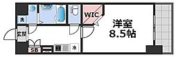 JPレジデンス大阪城東IV 5階1Kの間取り