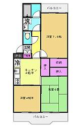 桐華マンション[1階]の間取り