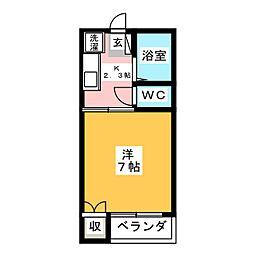 シャトレーヤナセ[1階]の間取り